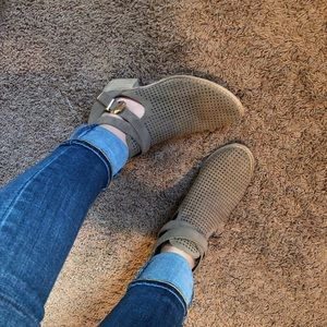 Taupe Suede Booties sz 8